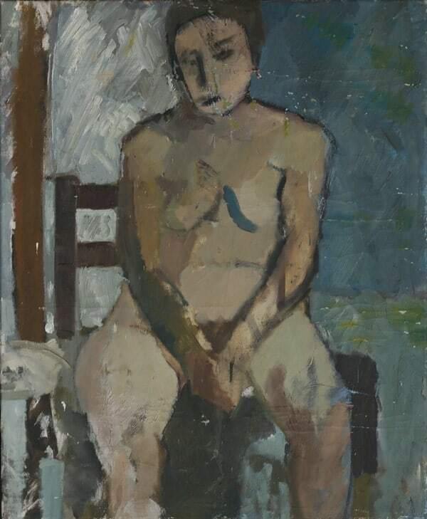 Natalia Witkowska Finch Akt, obraz olejny