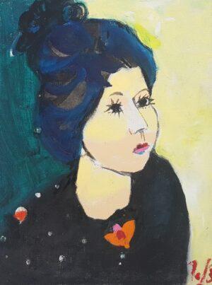 Jerzy Świątkowski, Portret Kobiety, olej, płótno