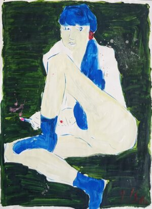 Jerzy ÅšwiÄ…tkowski - ÅšwinoujÅ›cie, akwarela, papier, 1986 r.