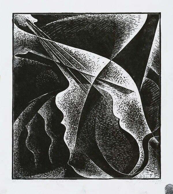 Mirosław Miron Długosz - Pieśni rozegranie, litografia,1978 r