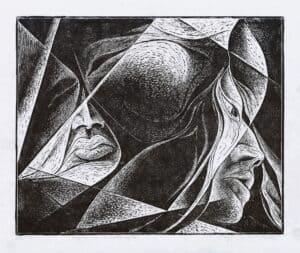 Mirosław Miron Długosz - Myśli co równoległe, litografia, 1976 r.