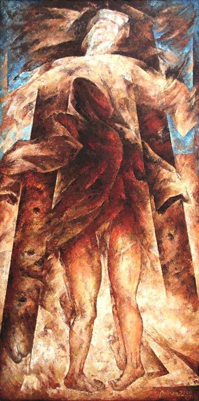 Mirosław Miron Długosz - Przeszłość bez przeznaczenia, olej, płótno, 2000 r.