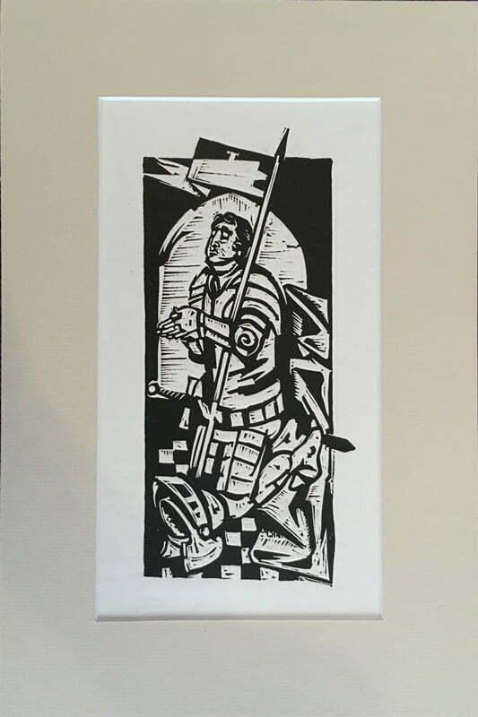Andrzej Kurkowski - Z cyklu Święci litografia