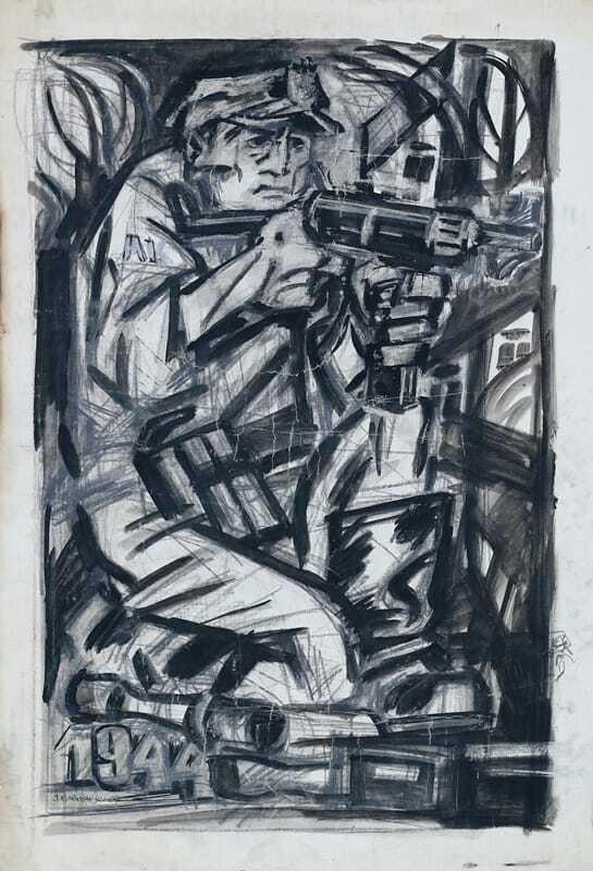 Żołnierz AK 1944tusz kurkowski