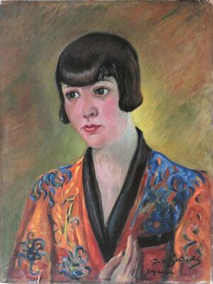 jozef-sendecki-Portret Janiny Sokołowskiej