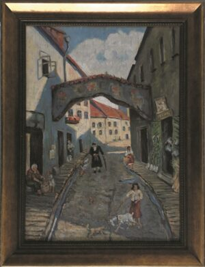 jozef-sendecki-Å»ydowska ulica obraz