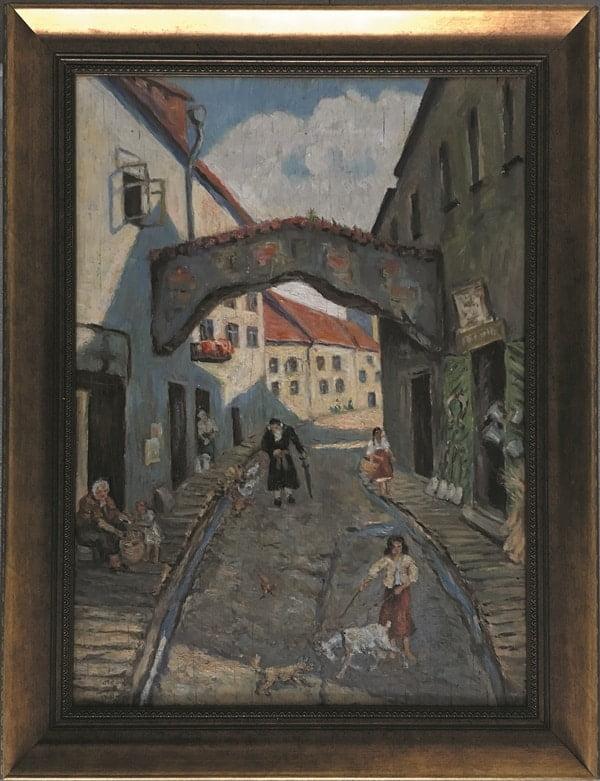 jozef-sendecki-Żydowska ulica obraz