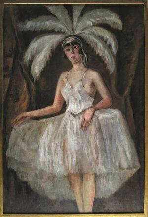 Józef Sendecki- Prima donna, 1930 r. , olej płótno