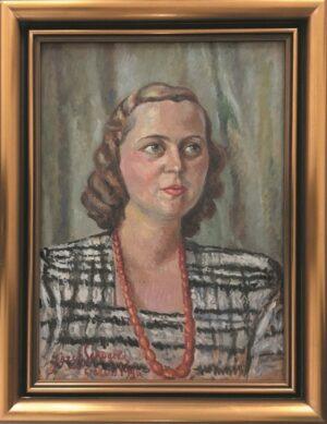 jozef-sendecki-portret-kobiety-olejny