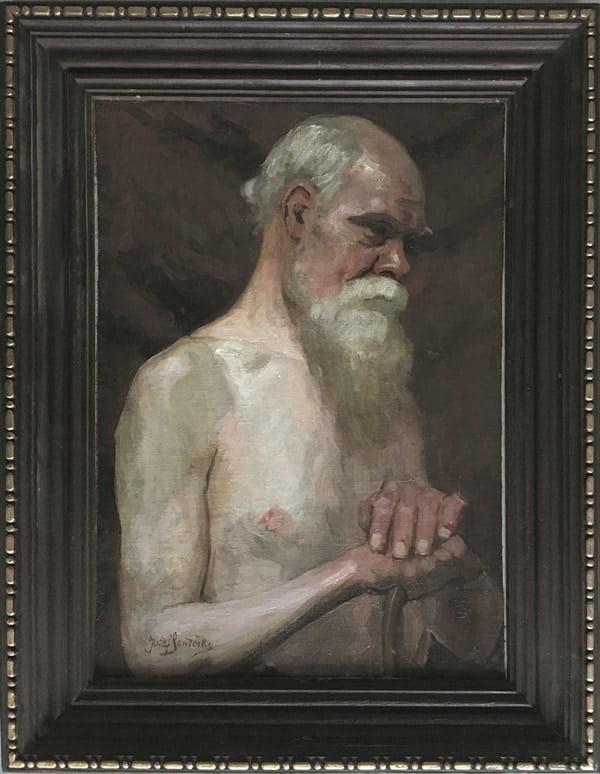 Józef Sendecki- Tors męski, olej płótno
