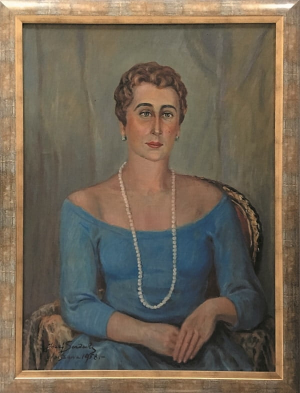 jozef-sendecki-portret córki olejny