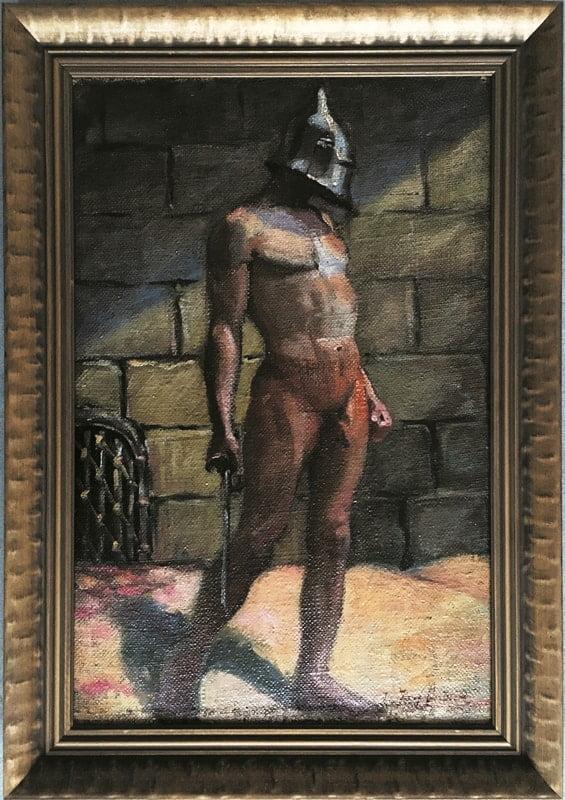 Józef Sendecki- Gladiator, olej