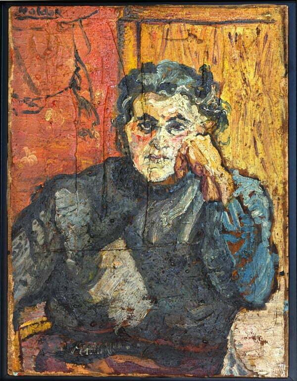 Kazimierz Romuald Naldek Dąbrowski Portret Bożeny olej, płótno