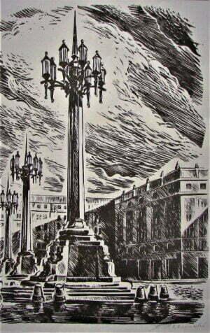 Stanisław Raczyński - MDM drzeworyt, papier