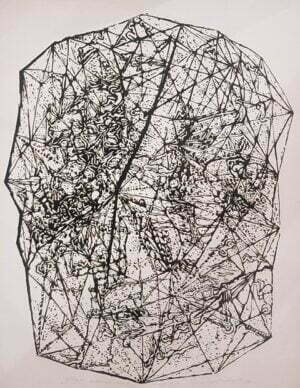 Jerzy Świątkowski - Mapa metorbudowy, 1985 r. linoryt